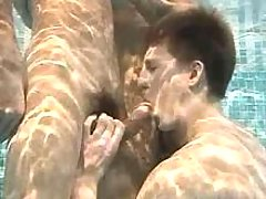 Some boys doing blows his cock under water