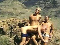 Gang of gays in moutains