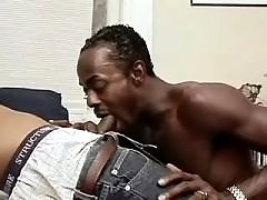 Wild black gay gets stuffed heavily