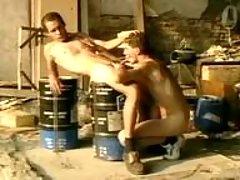 Homosexual group banging