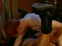 Redhead gay guy fucks horny dilf