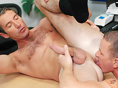 Aiden rims and relaxes Joe's dark fissure prior to plunging on in !